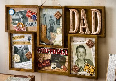 Decoupage - Collage Frame Father's Day