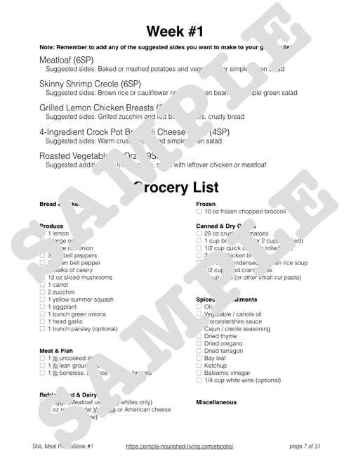 Meal plan sample slender kitchen | slender kitchen | pinterest.