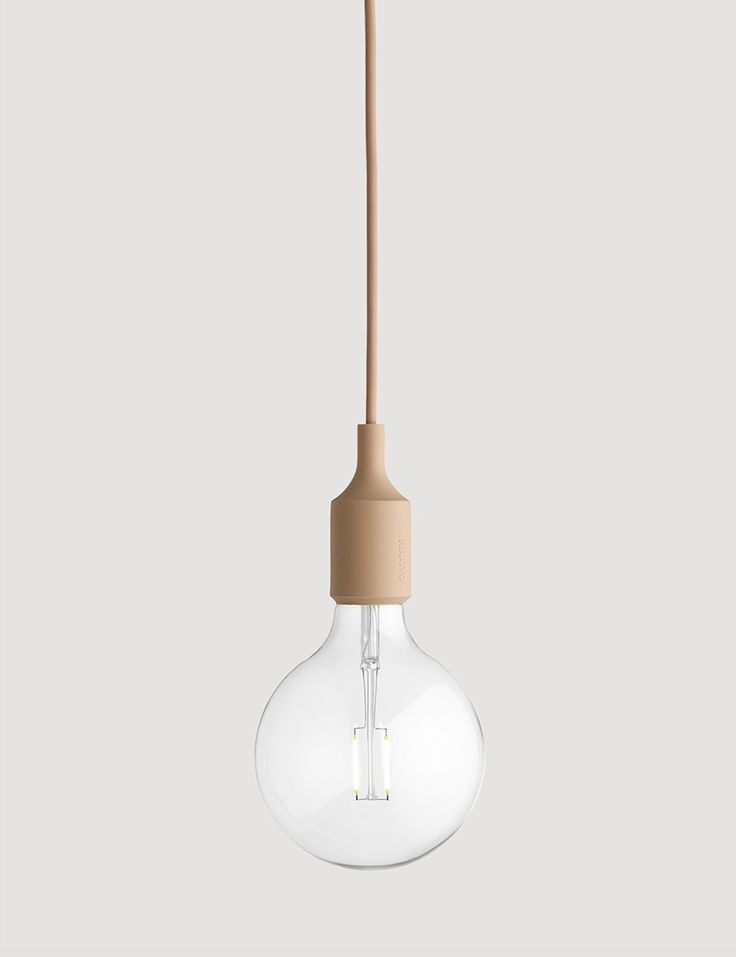 E27 has become a Muuto icon: A striking naked bulb that plays with the subtle aesthetics and simplicity of industrial design. The lamp can be used as a single light source, in pairs, rows or even in clusters to create a modern Scandinavian chandelierAvailable in many colour variations, E27 is adaptable to any setting, whether in the home, office or other public building. The pendant comes with a LED bulp