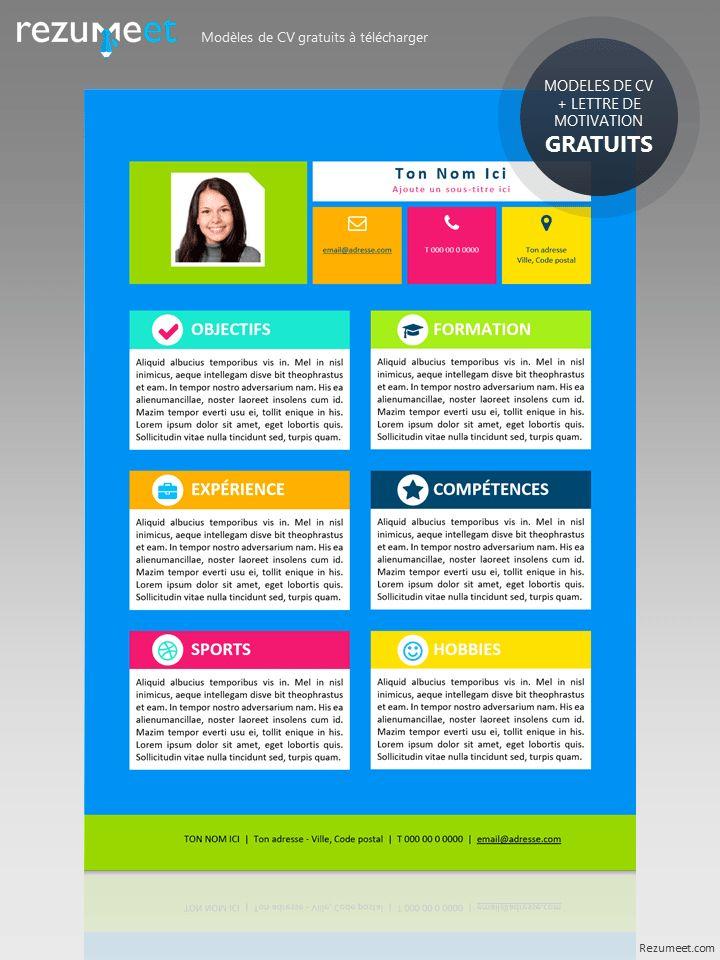 Mon Premier CV - Modèle gratuit de CV à télécharger pour les enfants