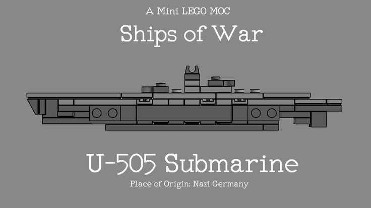 LEGO U-505 German Submarine MOC by The Bobby Brix Channel