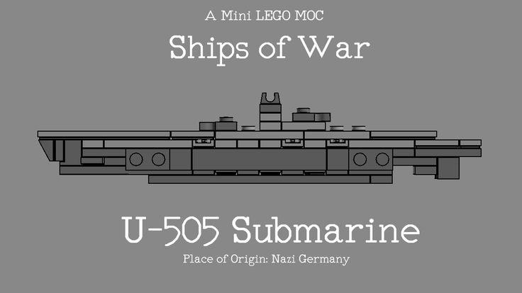 LEGO U-505 German Submarine MOC by The Bobby Brix Channel
