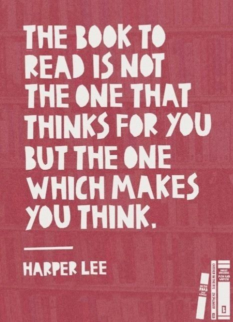 Harper lee quote on reading books reading pinterest - Reading quotes pinterest ...