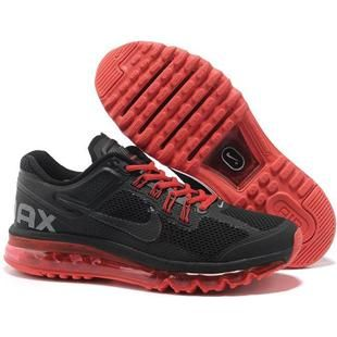 asneakers4u.com NIKE AIR MAX 2013 cheap mens running shoes black red