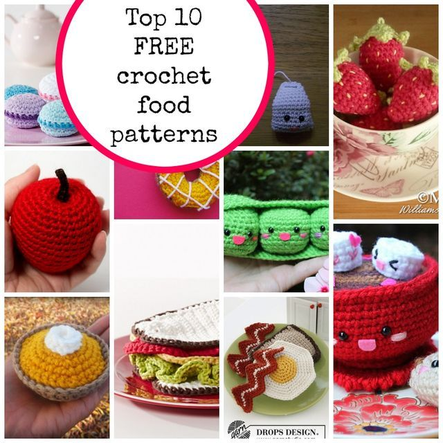 Over the last few days I've been accumulating quite a few crochet food patterns and thought I'd share the links with you too, incase you would also like to make some. A couple of years ago on the blog