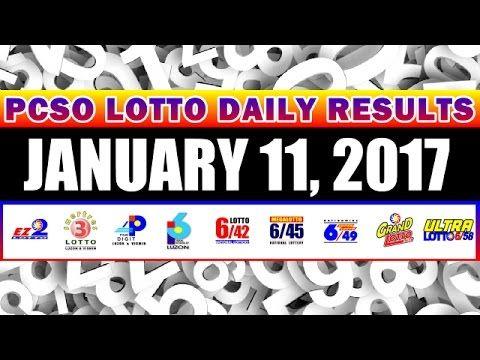 PCSO Lotto Draw Results Today, January 11, 2017 Draws - http://LIFEWAYSVILLAGE.COM/lottery-lotto/pcso-lotto-draw-results-today-january-11-2017-draws/