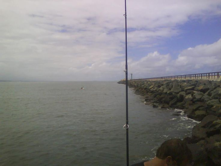 Durban Harbor - Looking along the Northern Breakwater