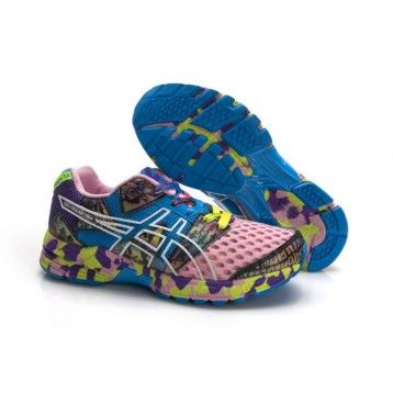9C27 Zapatillas Asics Gel-Noosa Tri 8 Mujer Rosa Azul-Blanco