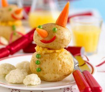 Potato Snowman