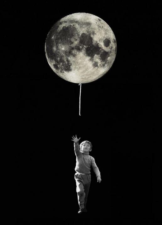 """Le monde m'échappe... / The world is slipping through my hands... / Photo-montage à partir du """"Ballon Rouge"""" d' Albert Lamorisse. / By Christian Lagereek."""