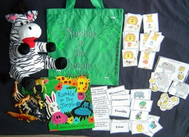 Rumble in the Jungle literacy bag