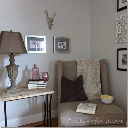 Rustic Living Room DIY Update Using Paint