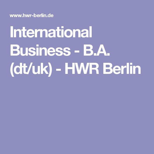 International Business - B.A. (dt/uk)-HWR Berlin