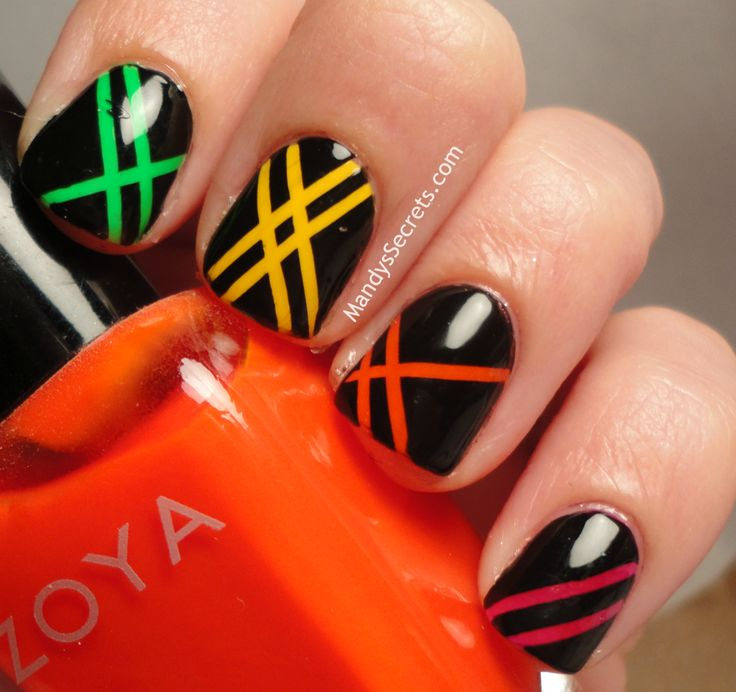 Nail Designs Using Tape: 17 Best Ideas About Tape Nail Designs On Pinterest