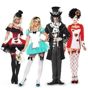 alice in wonderland couples costumes