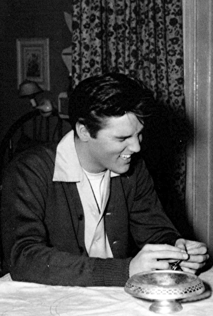 Elvis having a laugh during a break between scenes in 'King Creole'