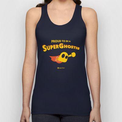 SuperGhostie Black Unisex Tank Top