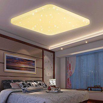 HG® 60W LED Lámpara de techo Lámpara de techo Blanco cálido Lámpara de pared Lámpara de techo Lámpara de pie Lámpara de baño Lugar estrellado Panel estrellas Mordern Techos Ahorro de energía Iluminado decoración EEK A ++
