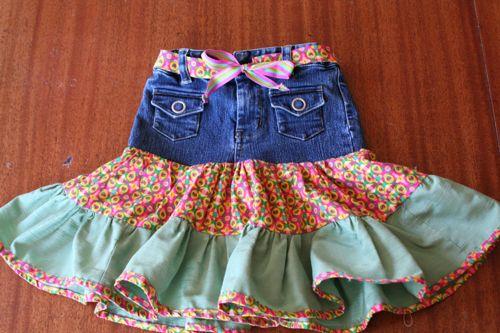 Recycled Denim Fiesta Skirt: A Tutorial