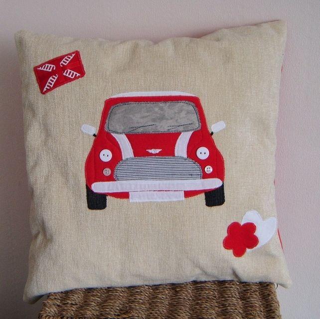 Personalised Mini Cooper Cushion