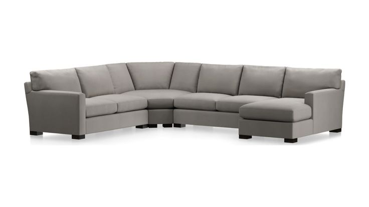Axis ii large grey sectional couch reviews crate and
