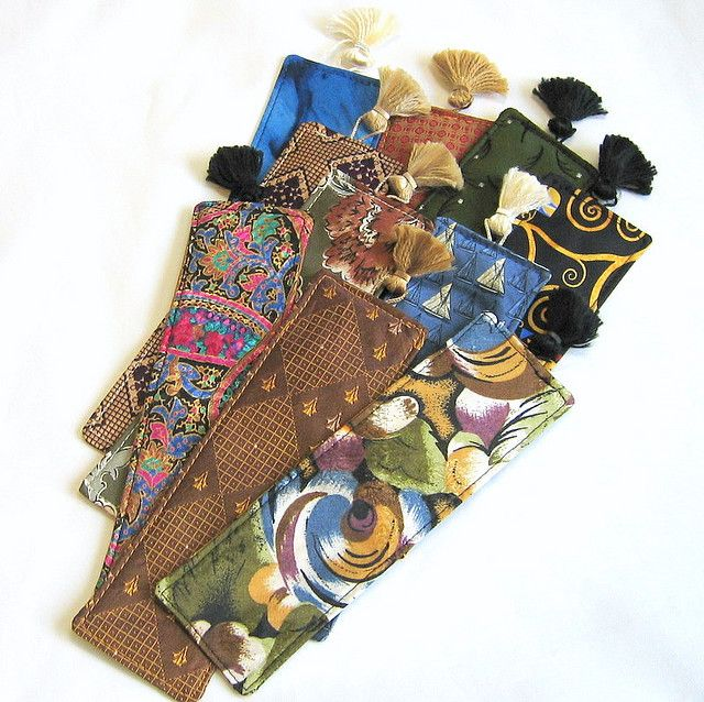Bookmarks made from neckties -- not sure if I like the idea or not!