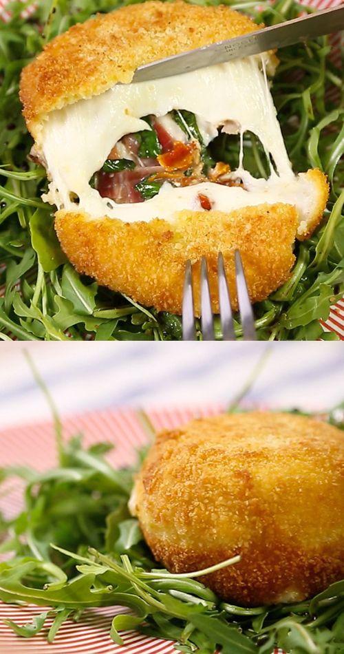 DIY Rezept für gefüllten Mozzarella!