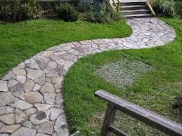 real stone garden paths
