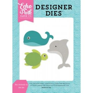 Vágósablon , Let's Be Mermaids / Designer Dies - Sea Animals 3 (1 csomag)