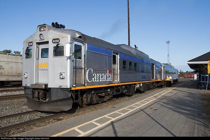 VIA train 185 preparing to depart Sudbury Ontario for White River Ontario. The…