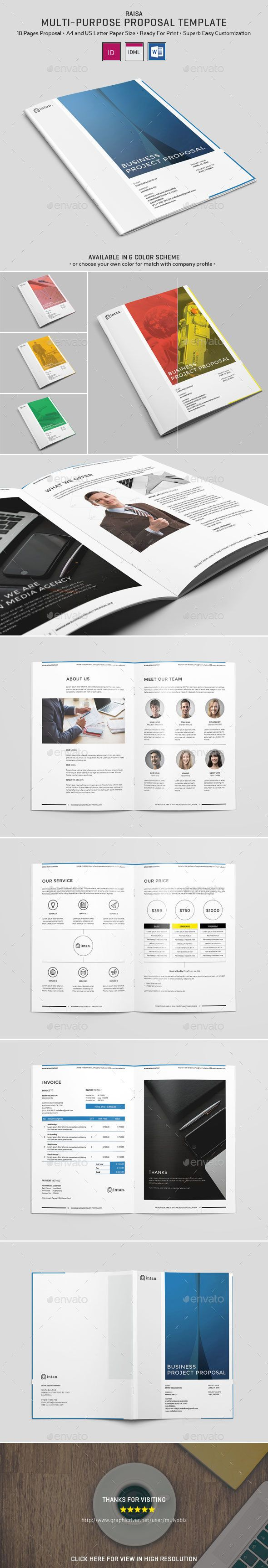 construction proposal templates%0A Buy Raisa  Proposal Template by MulyoBLZ on GraphicRiver  Raisa Proposal  Template Proposal Template Design is Easy Customizable or Change Color and
