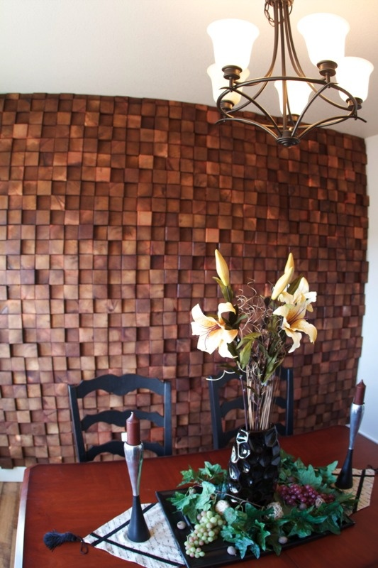 Post Modern Tile By Everitt & Schilling Tile.  Love this idea for utilizing scrap wood, want to see more end grain.