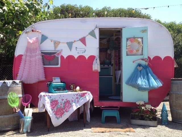 Jennifer Housh Events By Milk Honey Farm Pink TrailerSmall TrailerVintage CampersVintage