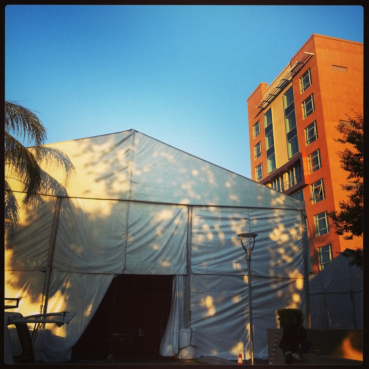 South African Fashion Week preparation - #SAFW marquee set up!! Join us for SAFW 11th-13th April 2013