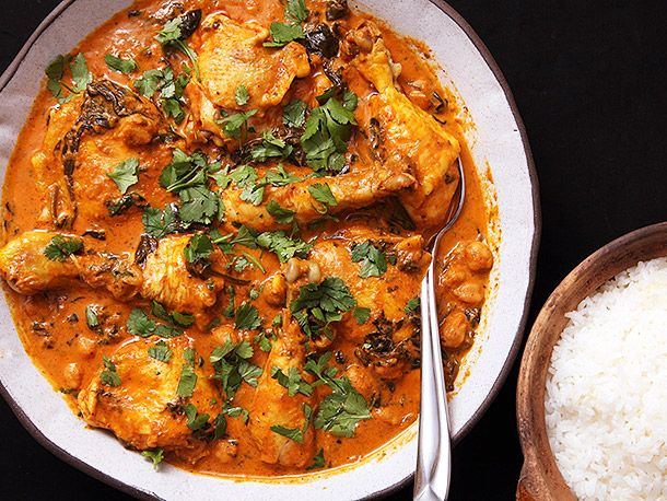 Easy 30-Minute Pressure Cooker Chicken and Chickpea Masala #recipe