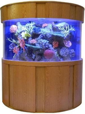 120 Gallon Half Cylinder Fish Tank 48x24x30 - Pricing is for Fish Tank Only