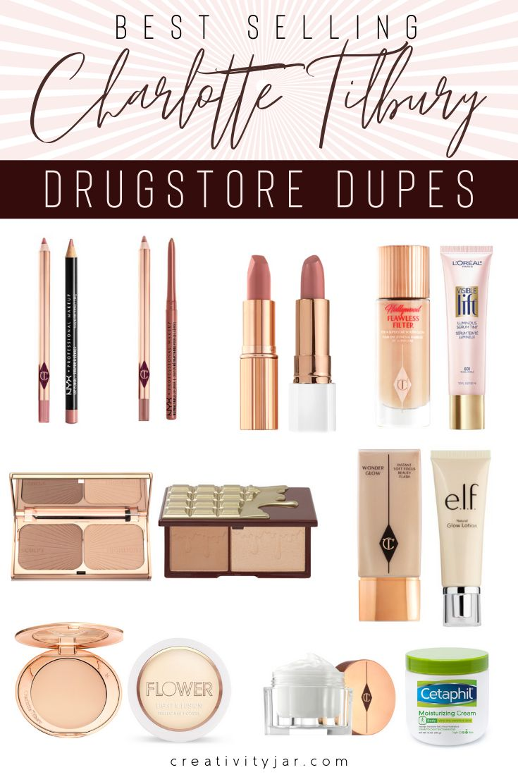 Want to try best selling Charlotte Tilbury products without spending the money? Check out these affordable Charlotte Tilbury dupes to get the look for less! #makeupdupes