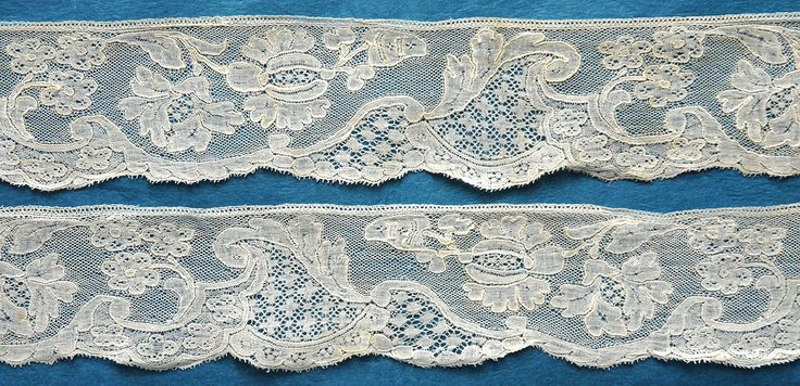 My choice for best lace from the May 4, 2014 Ebay Alerts. Mid 18th c Mechlin border.
