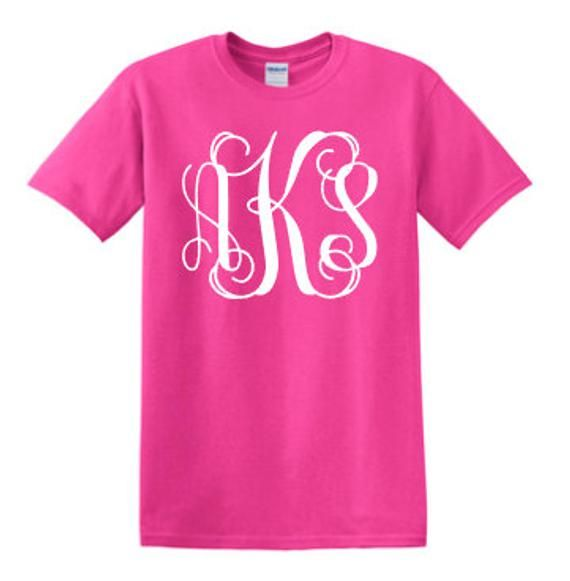 Sale Cheap Monogrammed Shirt Monogram Unisex Tshirt Custom Etsy Monogram Shirts Monogram T Shirts Personalized Shirts