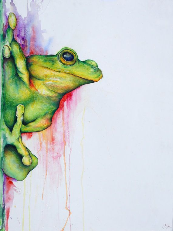 Pin By Isabel Embrey On Art Watercolor Pencil Art Frog Art