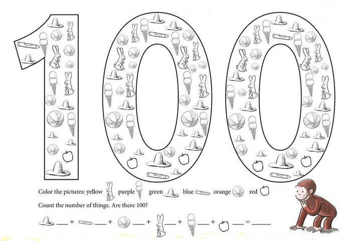 Printable 100 Days Of School Coloring Pages Free Coloring Sheets School Coloring Pages 100 Days Of School 100th Day Of School Crafts