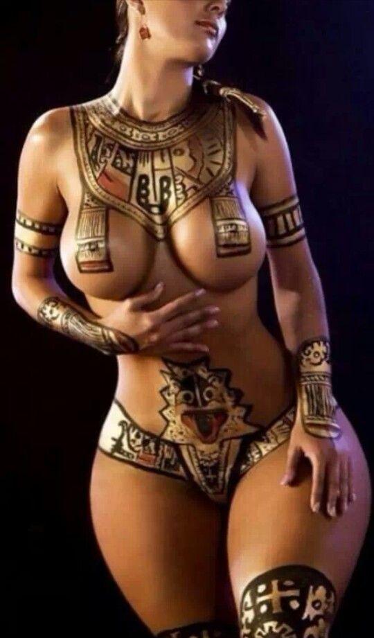 Body Paint, Egyptian Goddess