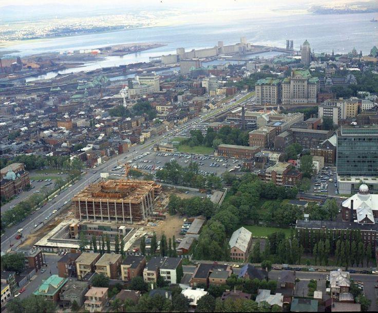 Construction du grand-théatre de Québec en 1968
