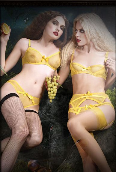 Agent Provocateur sunshine yellow point d'esprit silk-trimmed Jodie bra and demi-bra