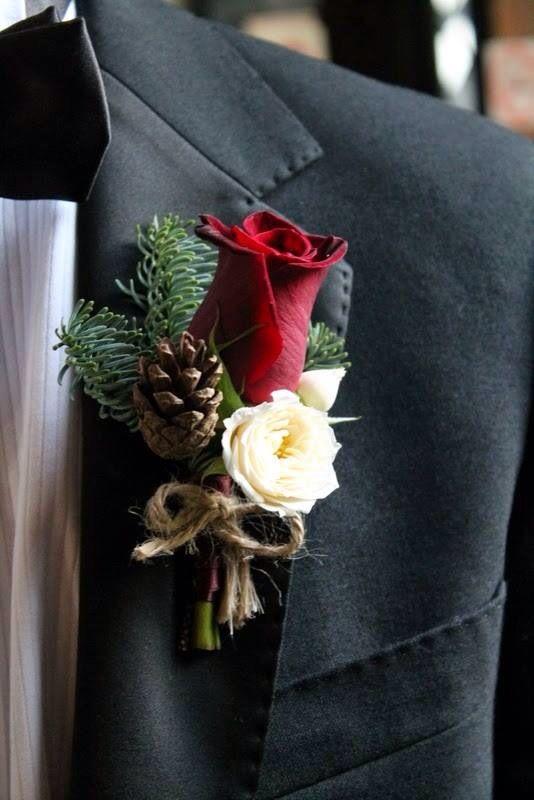Flower Design Events Christmas buttonhole