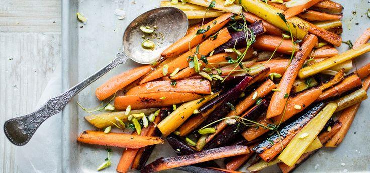 Bilde av pannestekte gulrøtter