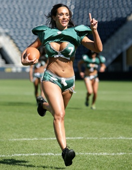 11 halloween costumes guys really want you to wear lingerie football - Girls Football Halloween Costume
