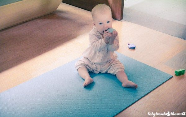 Yoga mat provided for you and baby