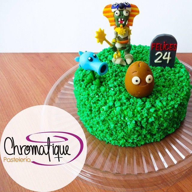 Plants vs zombies cake (Torta de plantas contra zombies) https://www.facebook.com/ChromatiquePasteleria