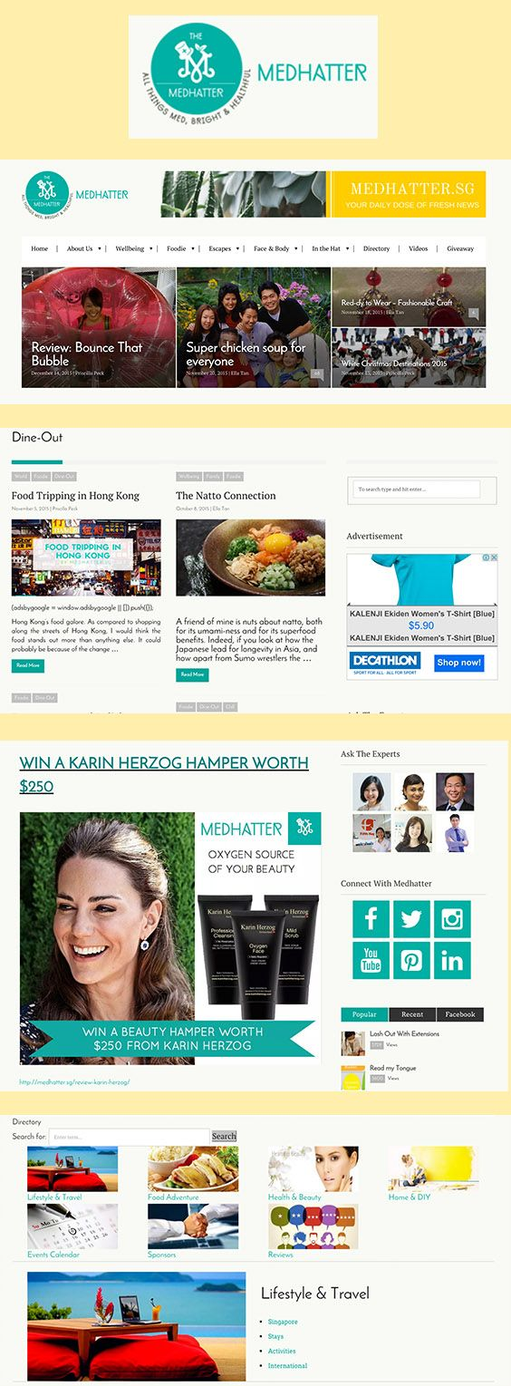 A site for Medhatter, a health & wellness news blog based in Singapore. medhatter.sg